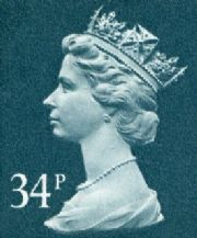 34p Discount GB Postage Stamp